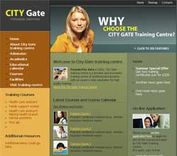 Web design for City Gate Training Centre | Masha Design client
