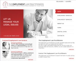Web design for The Employment Law Practitioners
