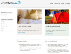 Web design for madeinsilk