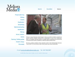 Web design for Meliora Media | Masha Design client