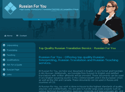 Web design for Russian for you | Masha Design client